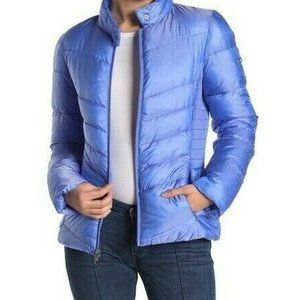 Via Spiga Smocked Quilted Puffer Jacket